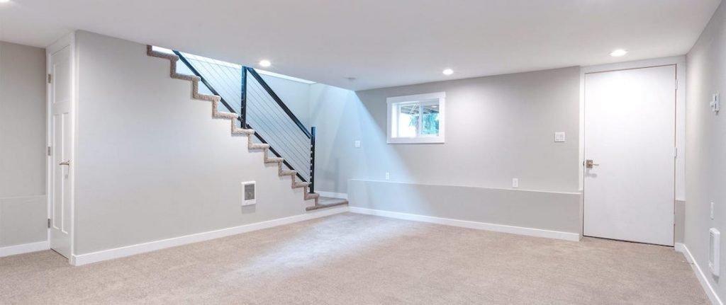 repaired dry basement